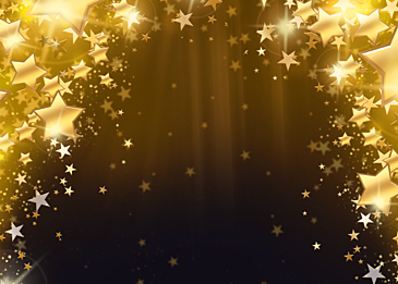 christmas glowing abstract decoration background with stars