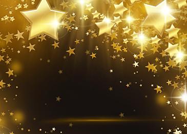 christmas glowing stars decoration background