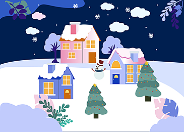 christmas night town background
