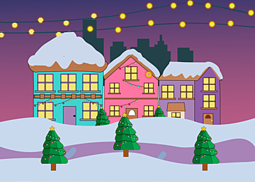 colorful lights night christmas background