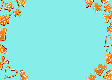 creative christmas love ginger man candy border blue background