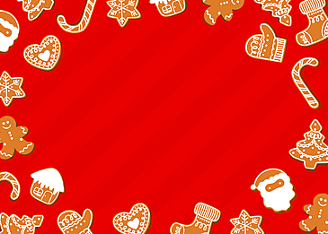 creative santa house love candy border striped red background