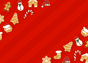 creative sugar pie border christmas red striped background