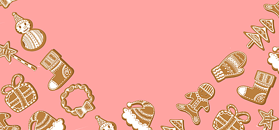 cute christmas candy border pink background