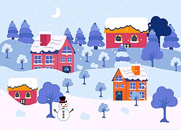 forest village christmas background