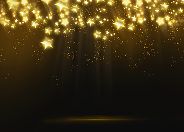 golden stars glowing abstract decorative background