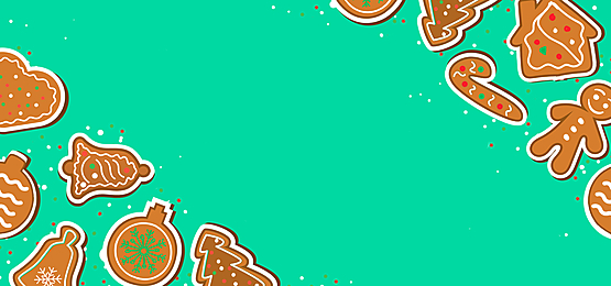 green christmas candy stick ginger man sugar cookie border background
