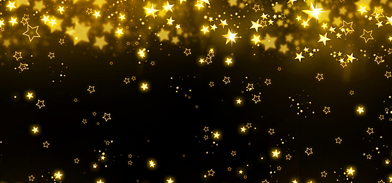 merry christmas golden glowing stars background