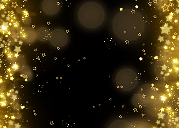 stars glowing merry christmas background