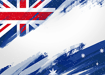 abstract flag brush australia day border