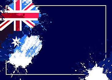 australia day abstract flag brush background