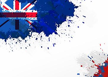 australia day abstract flag splatter brush background