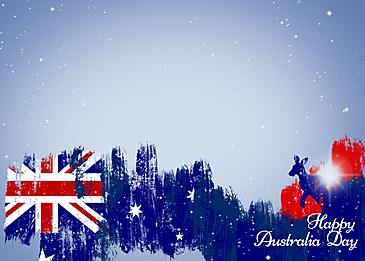 australia day blue gradient flag brush background