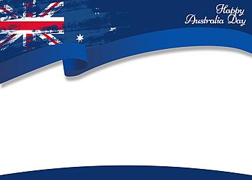 australia day blue ribbon border