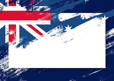 australia day brush effect blue border
