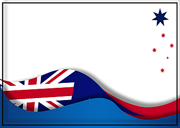 australia day flag abstract border