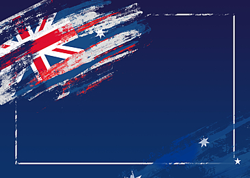 australia day flag brush blue background