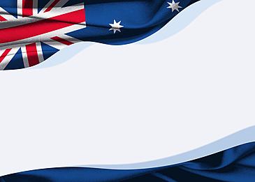 australia day flat style flag border