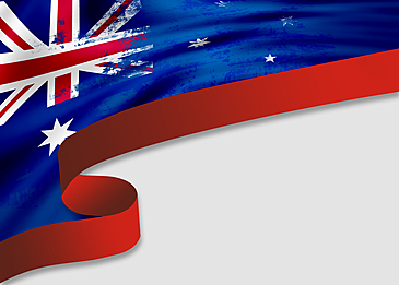 australia day textured flag border