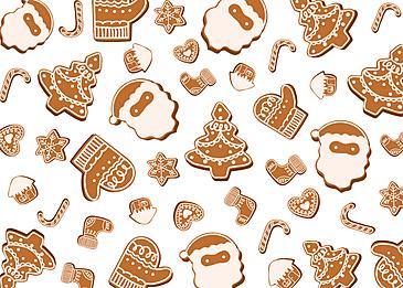 christmas gingerbread man tile