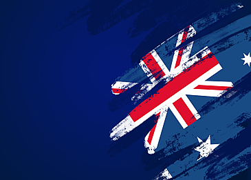 dark blue australia day flag background
