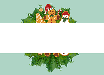 christmas cartoon style gingerbread man