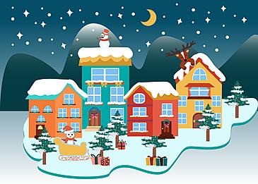 christmas lake house background