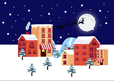 christmas snow background at night