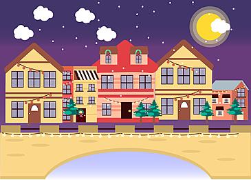 christmas village background