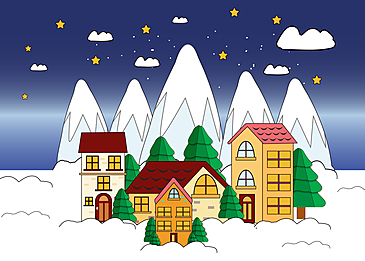 iceberg house christmas background