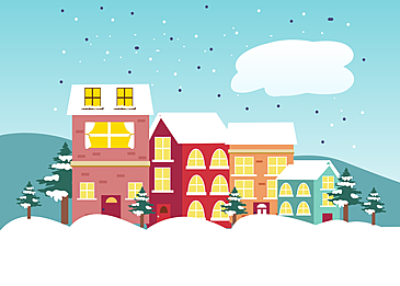 sunny cloudy christmas background