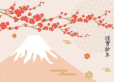 japanese style new year background