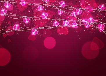 pink color light halo valentine light effect