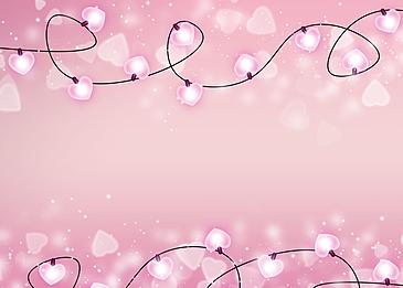 pink heart shaped halo lantern valentines day light effect
