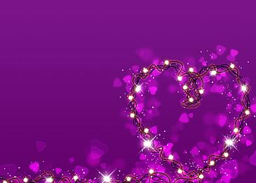 purple heart shaped wire lantern valentines day light effect