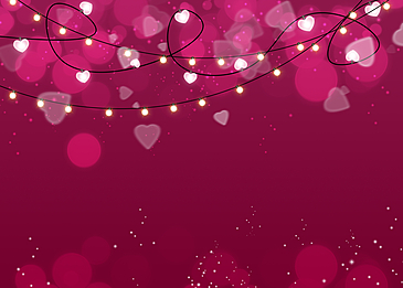 purple red background heart shaped halo valentine light effect