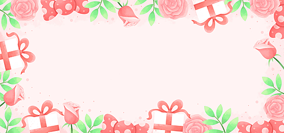 romantic warm gift box rose candy valentine pink background
