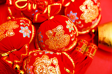 chinese new year red gold ingot blessing background