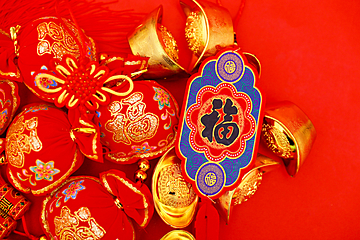 chinese new year red lucky bag background