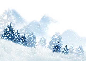 white winter forest snow background