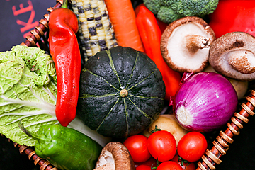 fresh vegetable mix background