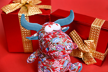 background map of the chinese new year doll