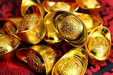 chinese new year gold ingot background map