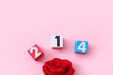 pink valentine background illustration