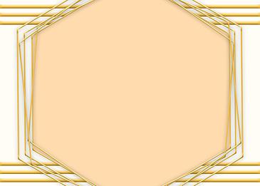 golden line geometric border background