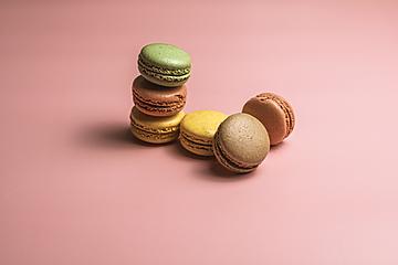 stacked french dessert macaron
