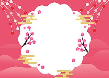 festival background japanese festival peach blossom festival