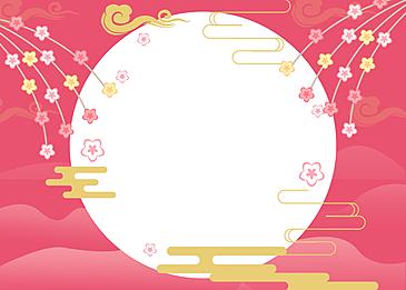hina peach blossom festival petal flower background
