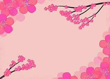 japanese festival peach blossom festival petal background