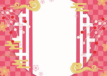 japanese style background peach blossom festival background auspicious clouds festival